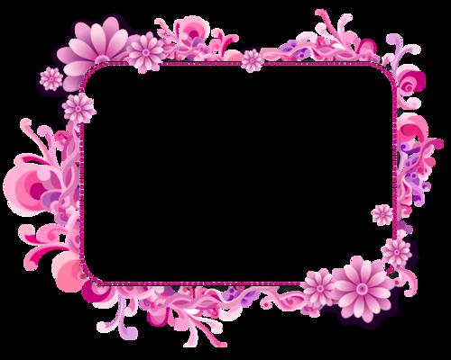 粉色花卉花朵边框