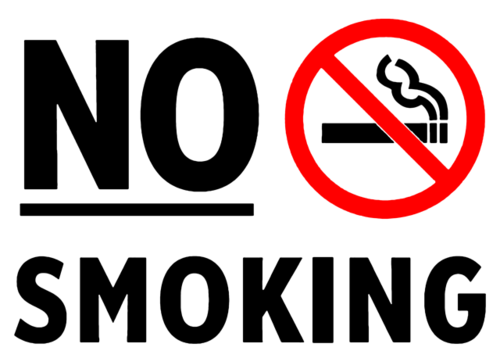 禁止吸烟英文标识