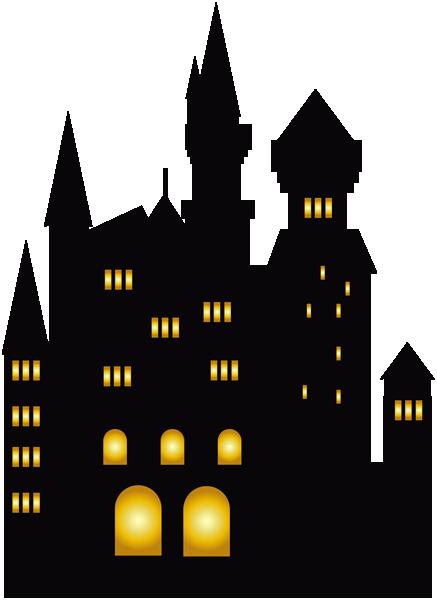 万圣节古堡背景素材