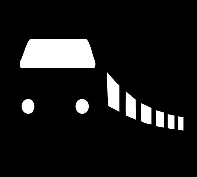 高铁黑白矢量图