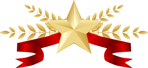 五角星麦穗标签