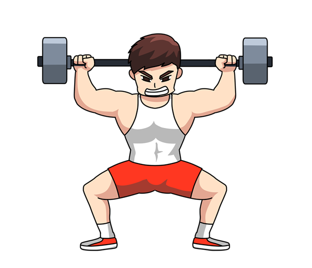 健身举铁人物矢量图
