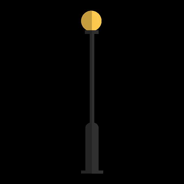 扁平化路灯图片