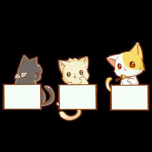 小动物主题促销边框