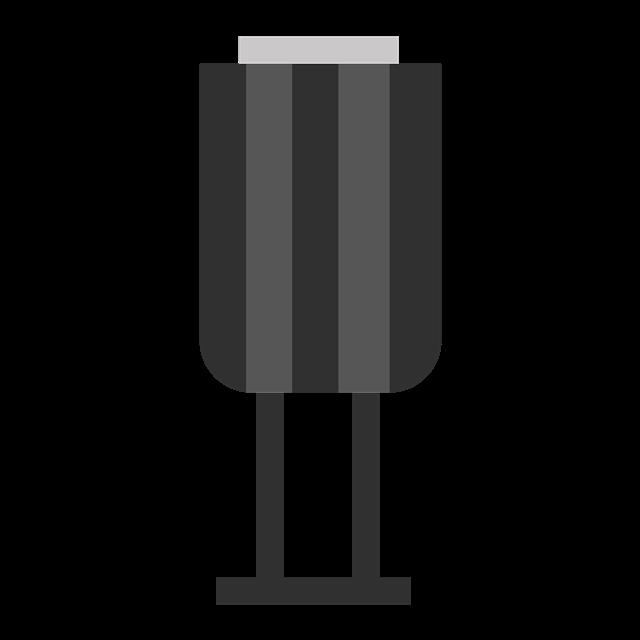 扁平化垃圾桶矢量图