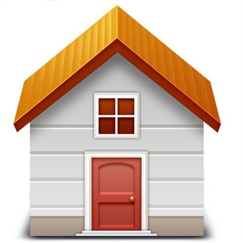立体小房子矢量图