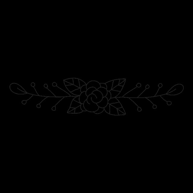 线描花卉边框