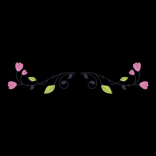 文艺花卉边框