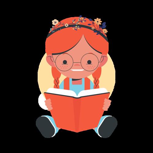 看书的小女孩