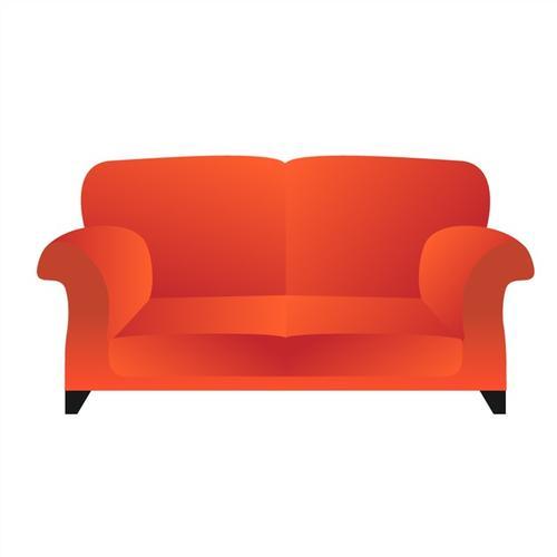 橙色沙发矢量图