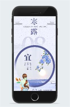 24节气寒露文艺风海报