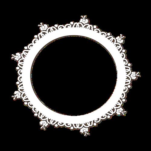 欧式白色简约边框