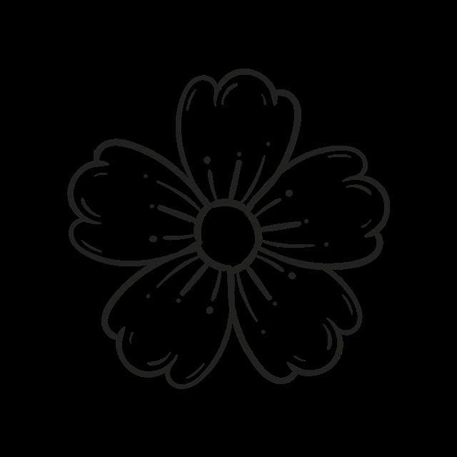 简约手绘花朵