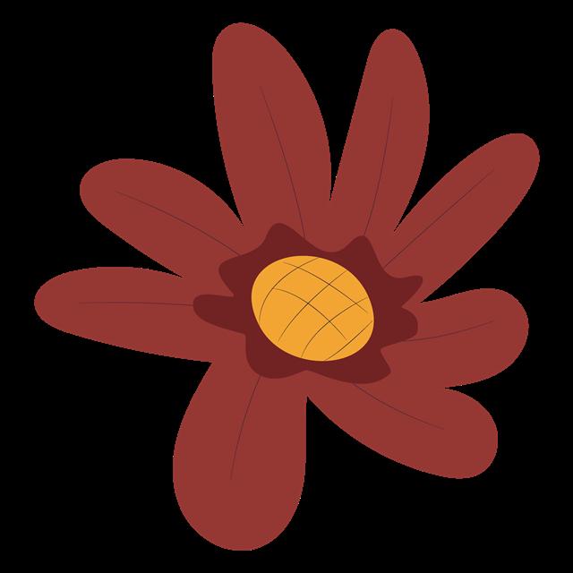 秋季彩绘花朵