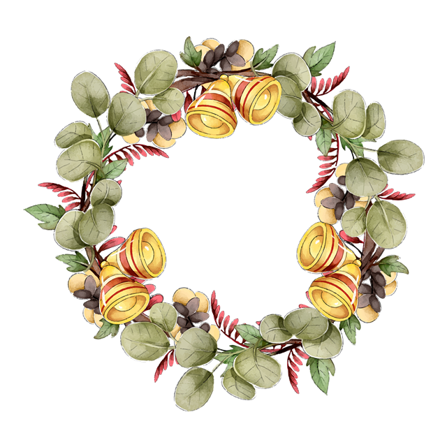 圣诞节植物花环