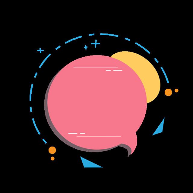 粉色几何对话框