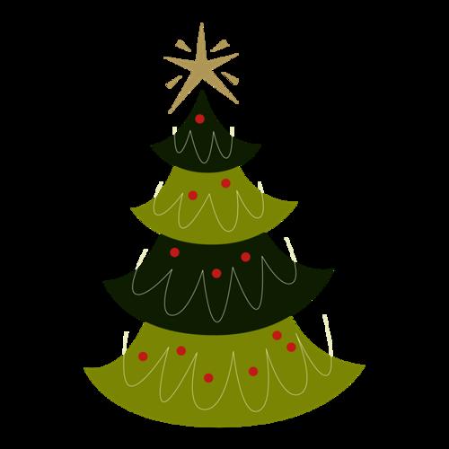 美丽的圣诞树图片
