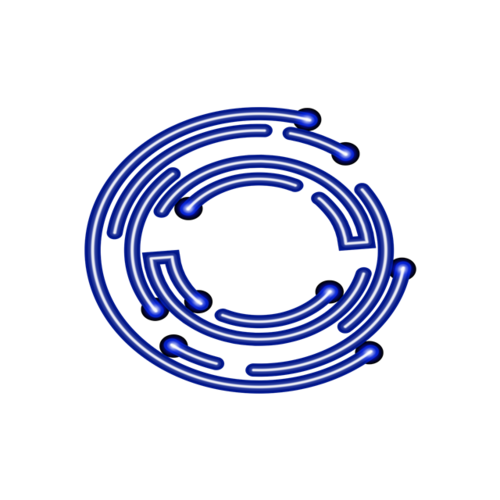 科技圆环边框