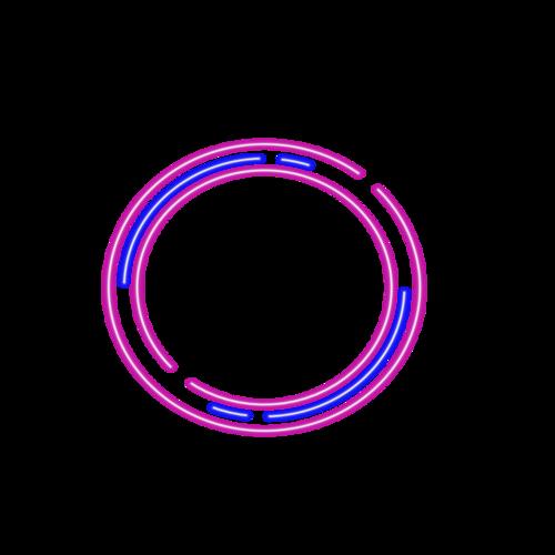 科技霓虹灯圆形边框