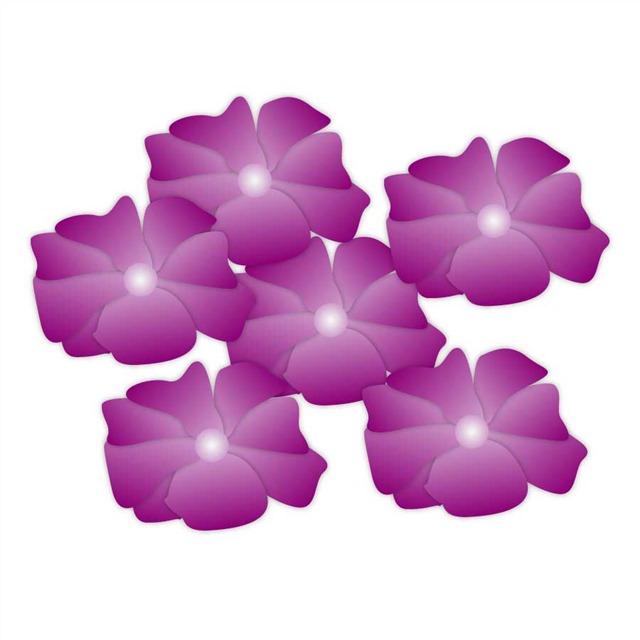 平面紫色花朵图片