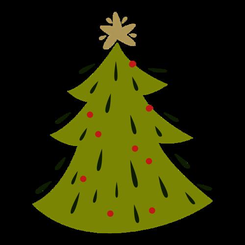 创意绿色圣诞树