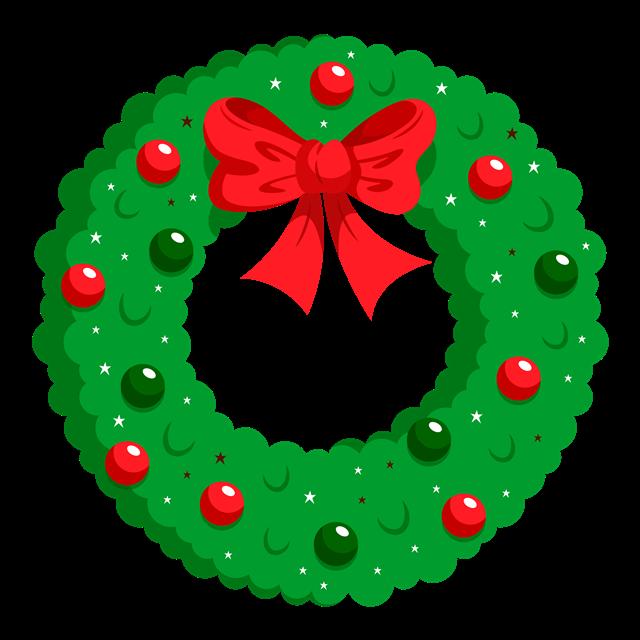 卡通圣诞节花环