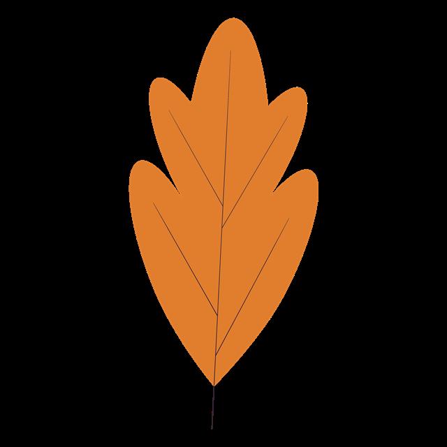 卡通黄色树叶