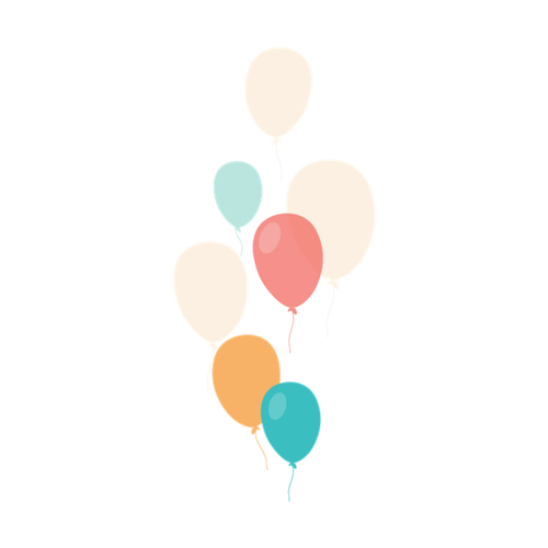 漂浮的彩色气球