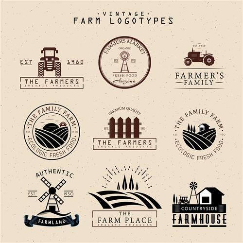 农场logo卡通图片