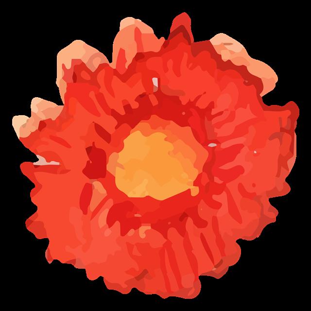 简约水彩花朵