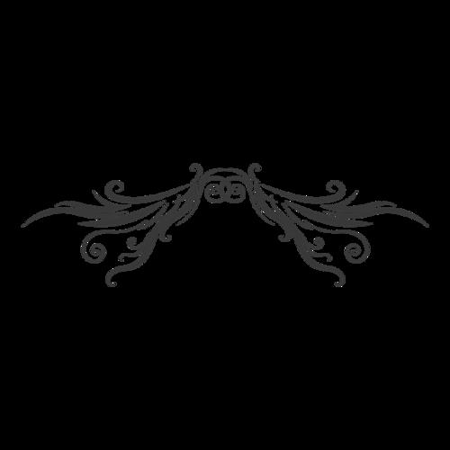 黑色装饰花纹元素