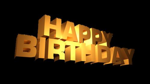 生日快乐立体字