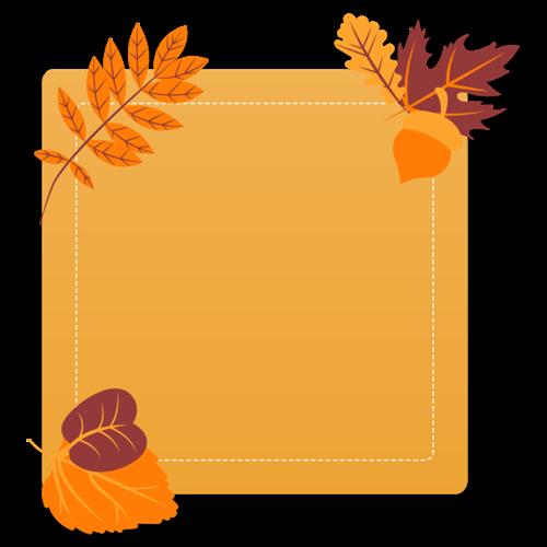 秋季矩形边框