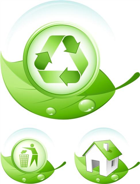 绿色环保图标logo设计