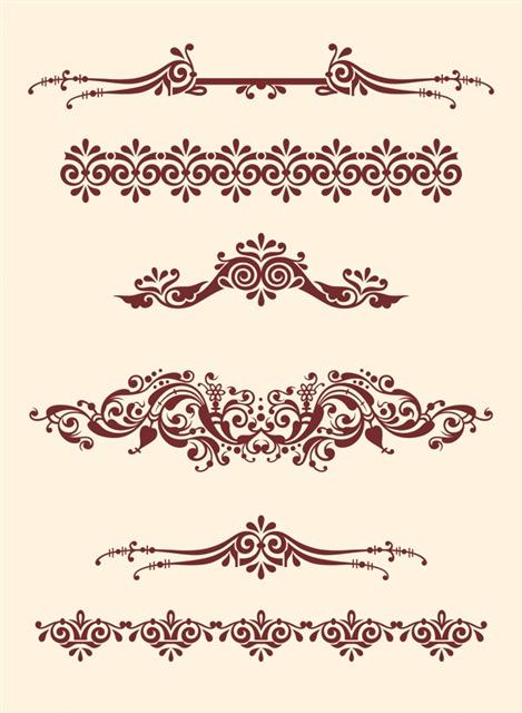 古典花纹边框设计
