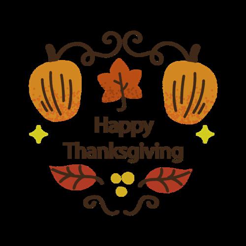 感恩节枫叶装饰图标