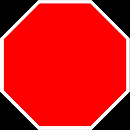空白停车标志