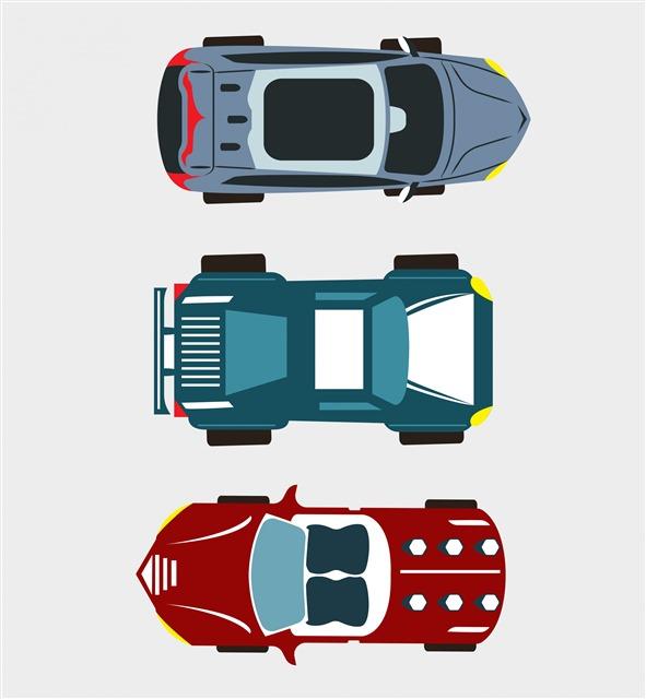 卡通汽车平面图