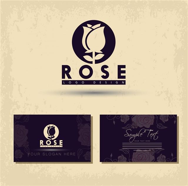 花店名片logo