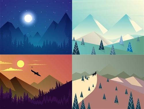 自然景观装饰插画