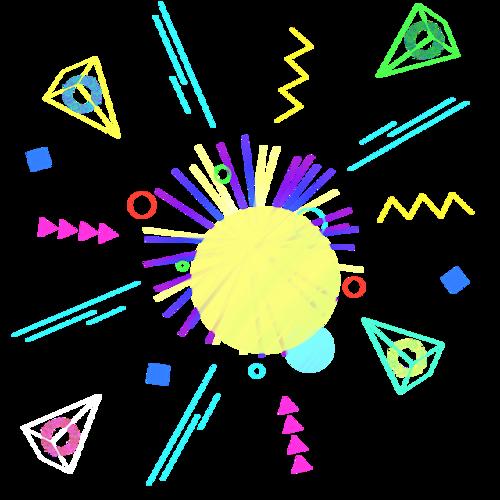 电商几何漂浮元素