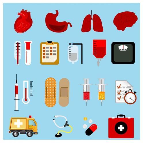 卡通医疗元素标志