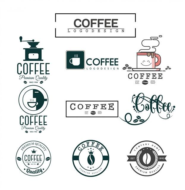 复古手绘咖啡店logo