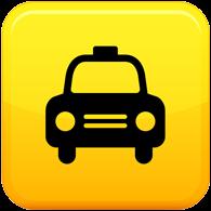 黄色出租车标志logo