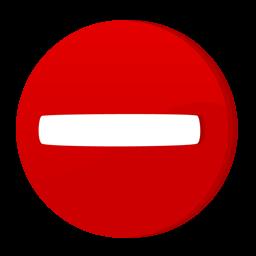圆形停车标志