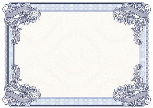 复古奖状花纹边框