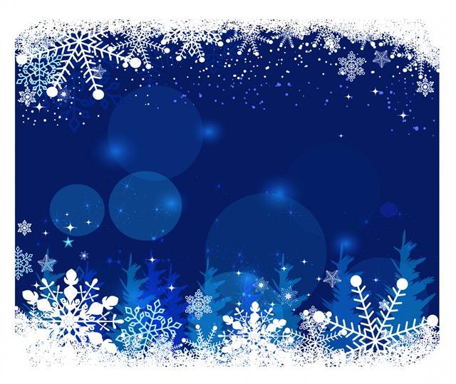 圣诞唯美相框矢量图