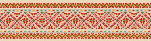 波西米亚花纹背景图