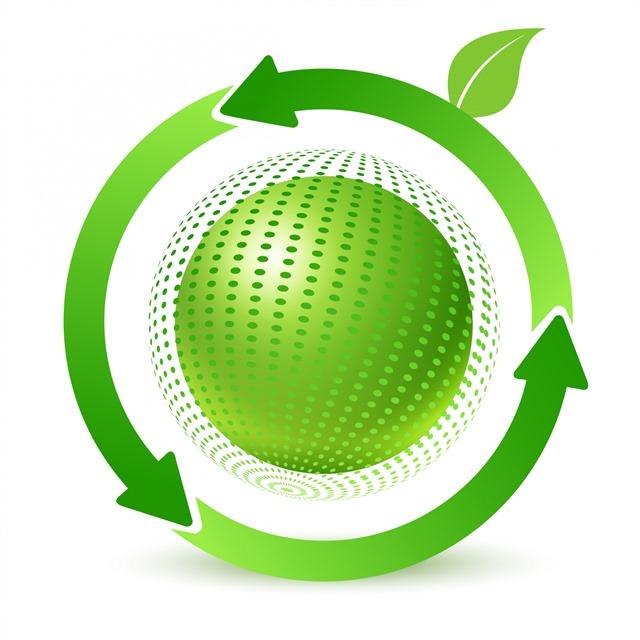 绿色地球logo标志