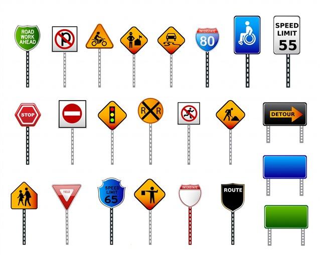 交通指示牌图片大全